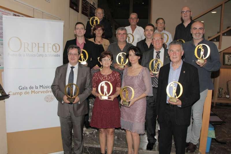 Premiats de la Gala de la Música. EPDA