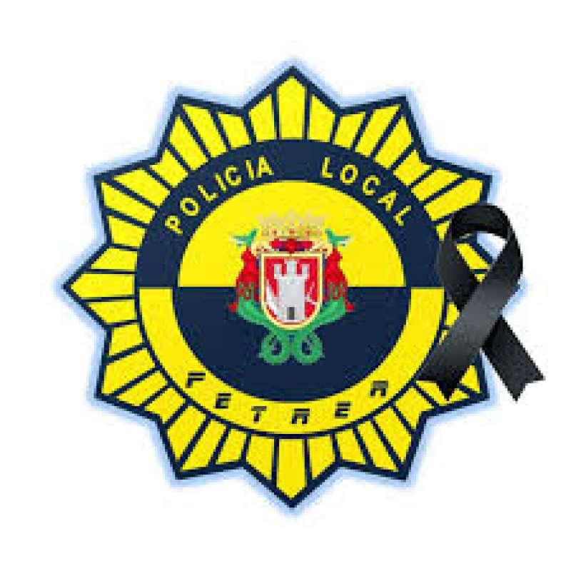 Placa de la Policía Local de Petrer. EPDA