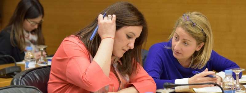 La portavoz del Grupo Parlamentario Popular en la comisión de investigación de Savia, Mª José Català