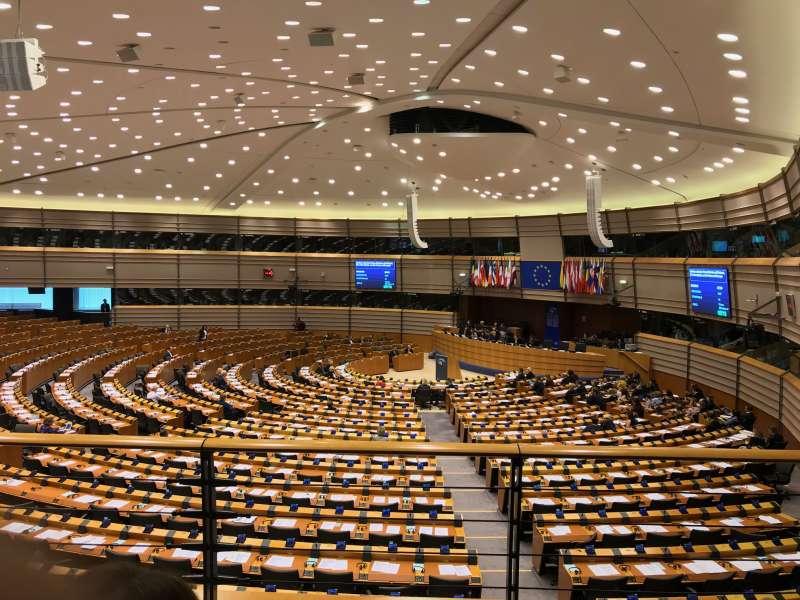 El Parlamento Europeo a las 11.30 horas el jueves 31 de enero de 2019. EPDA