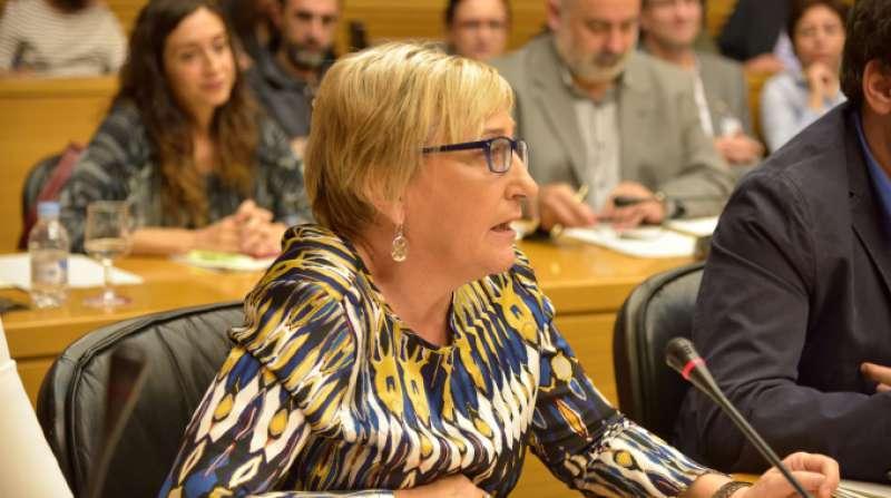 La portavoz socialista Ana Barceló. EPDA