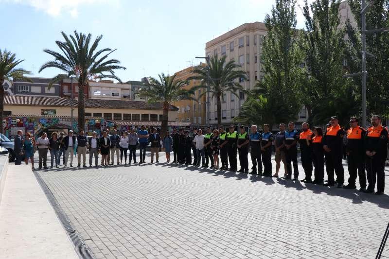 Asistentes al Día Local de las Fuerzas de Seguridad y Voluntariado de Sagunt. EPDA