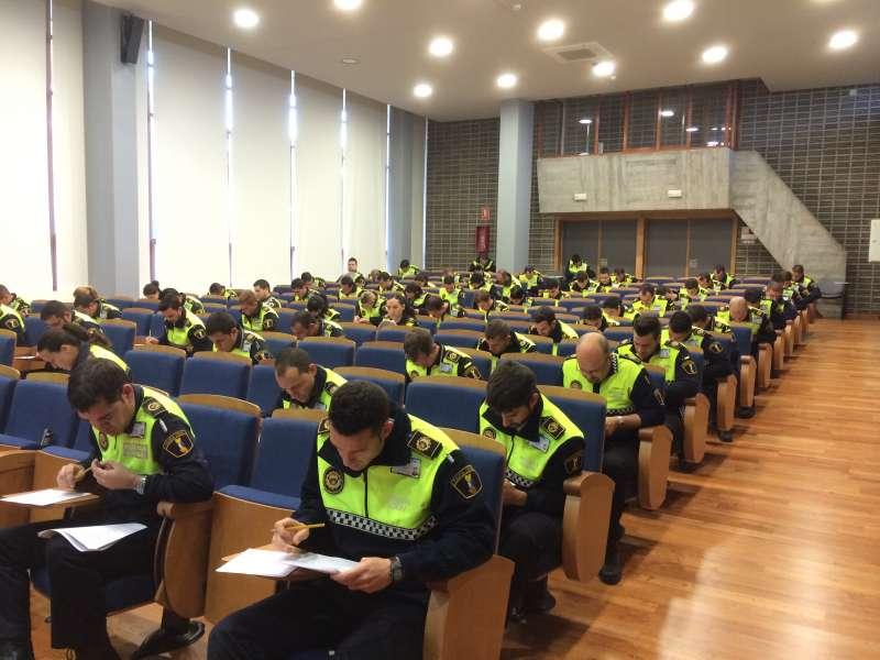 Agentes de Policía Local en Ivaspe.
