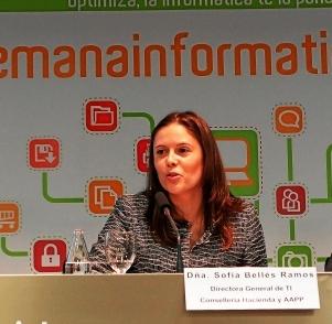 Sofía Bellés, directora general de Tecnologías de la Información. Foto EPDA