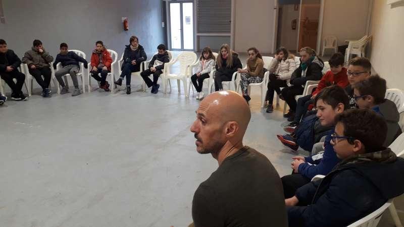 Sessió del projecte educatiu a l?Espai Cultural ?El Tabalet?. EPDA