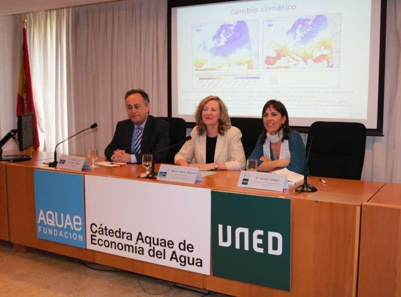 Instante del acto en el que se ha convocado la V edición de los Premios de Investigación en Economía del Agua