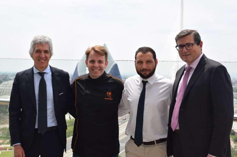 Agustín Alonso, César Marquiegui, David Inglese y Pau Pérez Rico