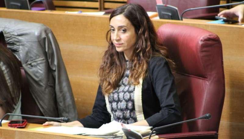 La diputada i portaveu de Compromís en la Comissió d?Investigació de l?Accident del Metro, Isaura Navarro