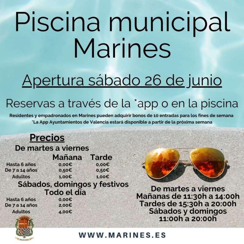 Piscina municipal de Marines. EPDA.
