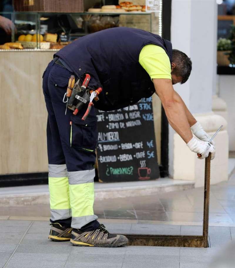 En la imagen, un operario de mantenimiento de la ciudad de València. -  EFE