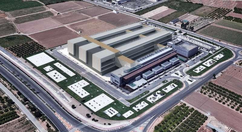 Simulación de cómo serán las nuevas oficinas de Mercadona en 2021 en Albalat dels Sorells Valencia.