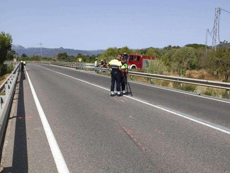 Escenario de un accidente de moto. EFE/Archivo