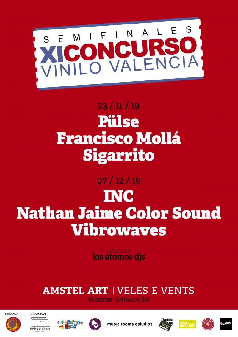 Cartel Concurso XI edición Vinilo València -EPDA