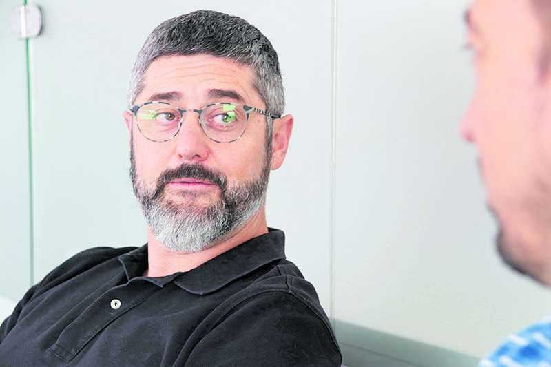 Manuel González durante la entrevista. EPDA