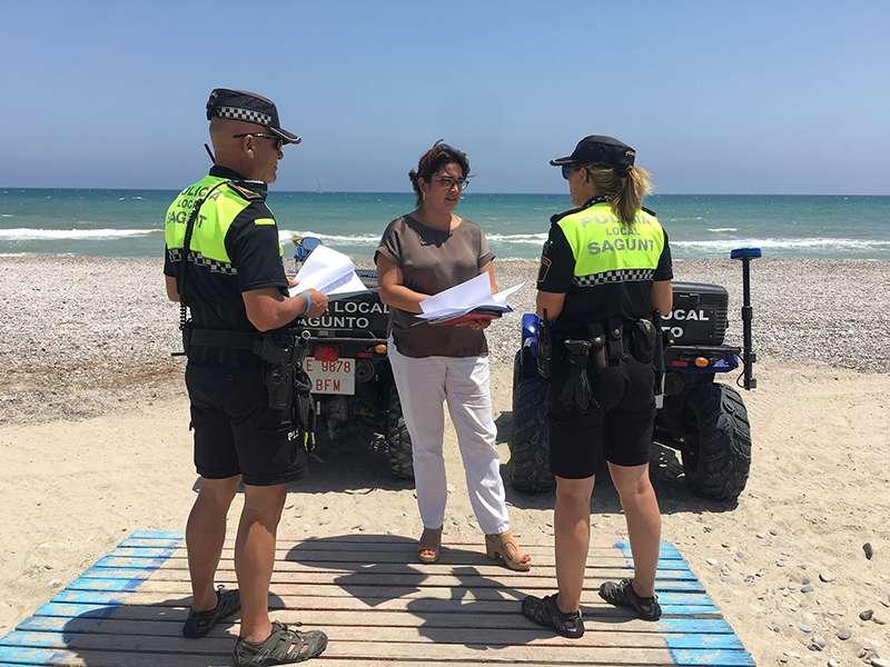 Policia Local de Sagunt a les platges. EPDA
