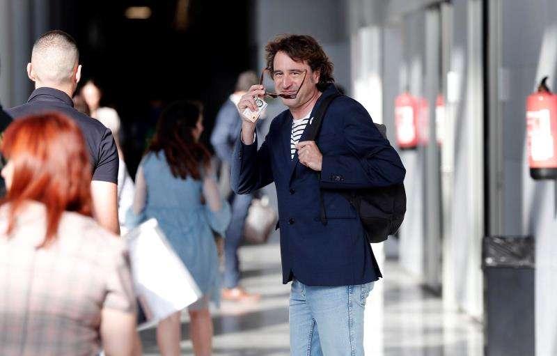 Rubén Trenzano a su llegada este martes a la Ciudad de la Justicia. EFE