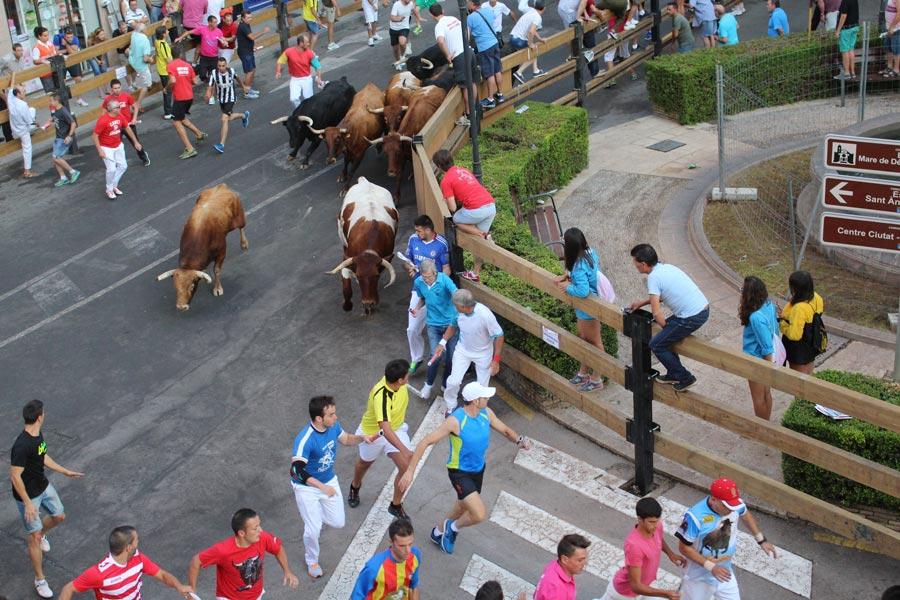 Un momento de los festejos tradicionales en La Vall. FOTO EPDA