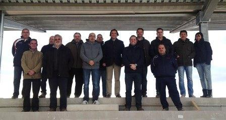El alcalde de Manises con miembros del CDj en las futuras instalaciones de la Ciudad de Manises. EPDA