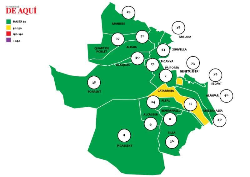 Mapa de coronavirus en l
