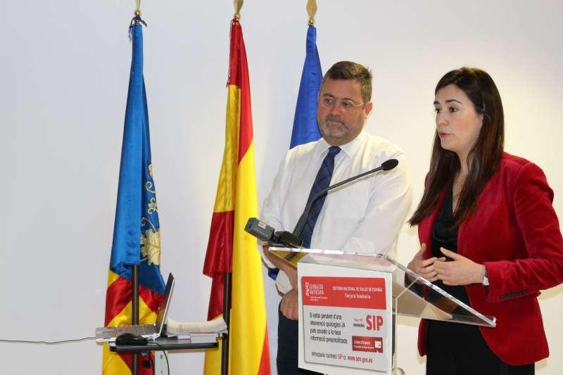 La consellera de Sanitat, Carmen Montón, en la presentación de la web