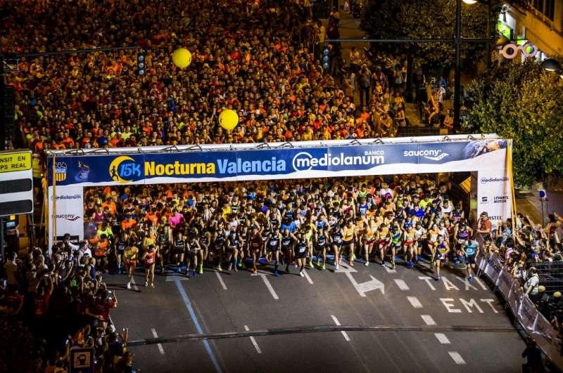 Edición pasada de la 15K Nocturna Valencia Banco Mediolanum. EPDA