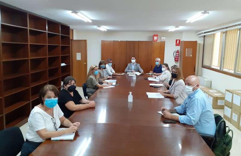 Reunión de responsables educativos con el ayuntamiento