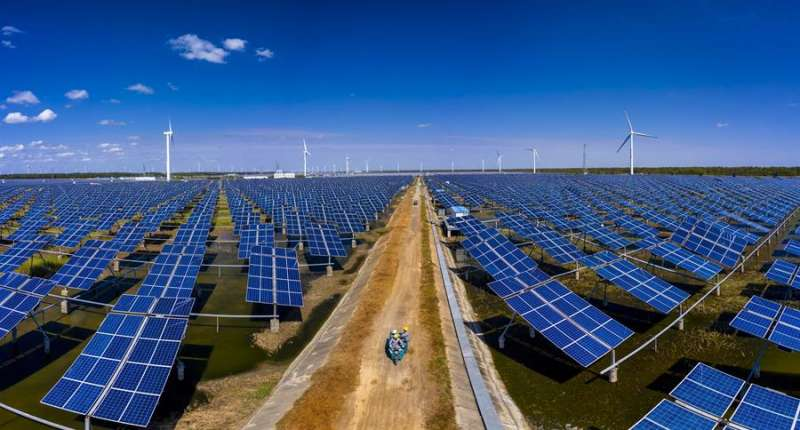 Imagen de una estación fotovoltaica. EFE/Archivo