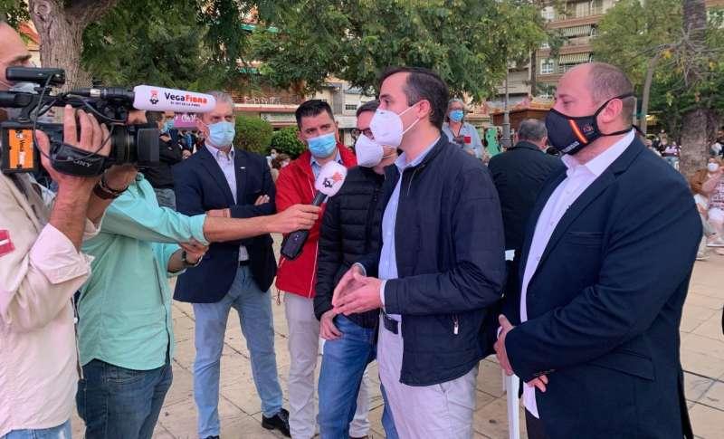 Miguel Pascual y David García en la protesta