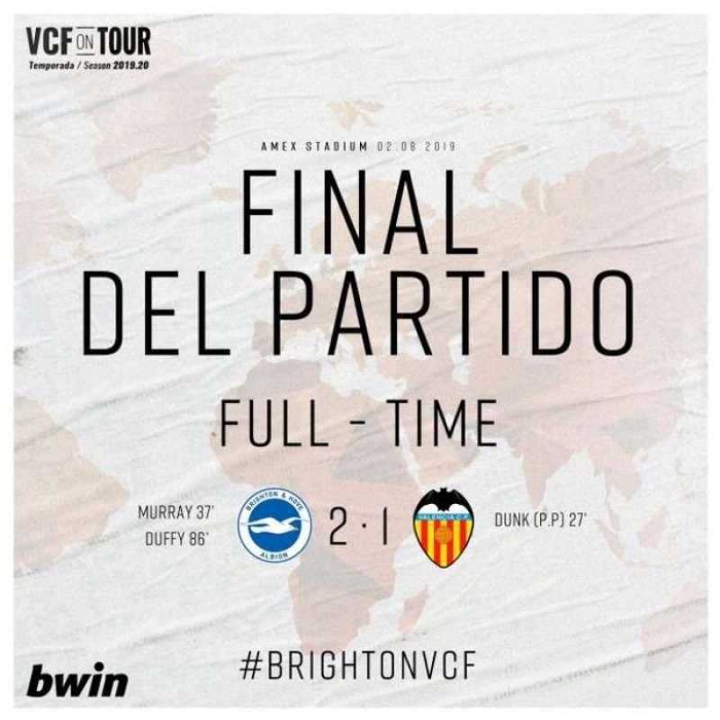 Infografía sobre el partido difundida por el Valencia CF. EFE