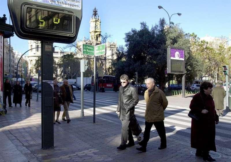 Termometro ubicado en la ciudad de Valencia