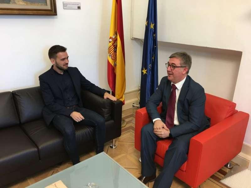 El síndic de Compromís, Fran Ferri, reunit amb el Secretari d?Estat d?Educació, Cultura i Esport, Marcial Marín
