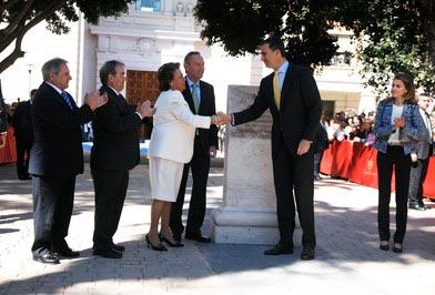 Rita Barberá saludando al Príncipe Felipe. FOTO VALENCIA.ES