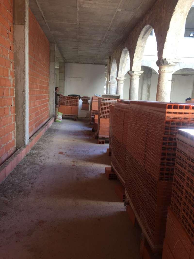 Obras en el claustro del convento