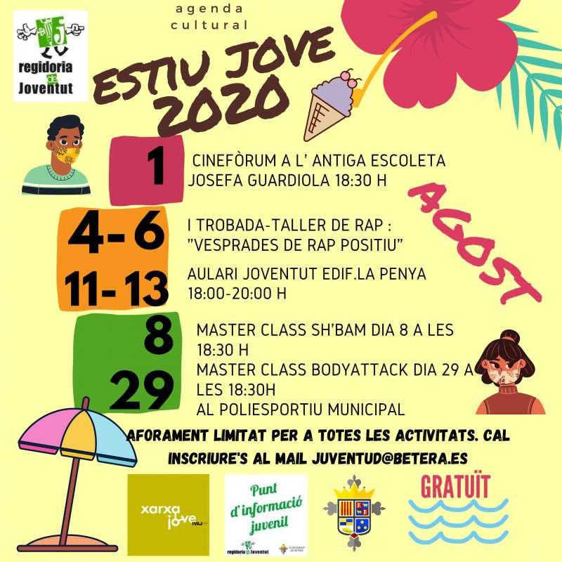 Cartel de actividades Estiu Jove 2020. / EPDA