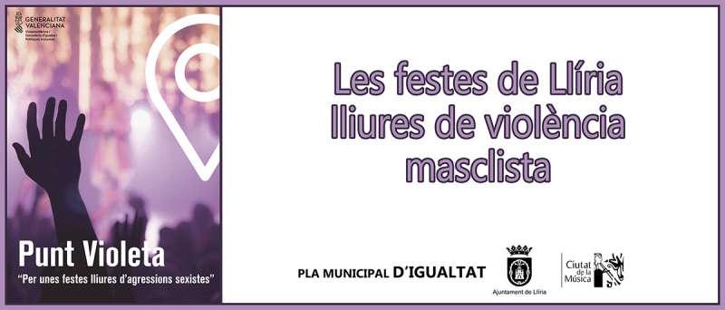 Punts violeta a Llíria. EPDA