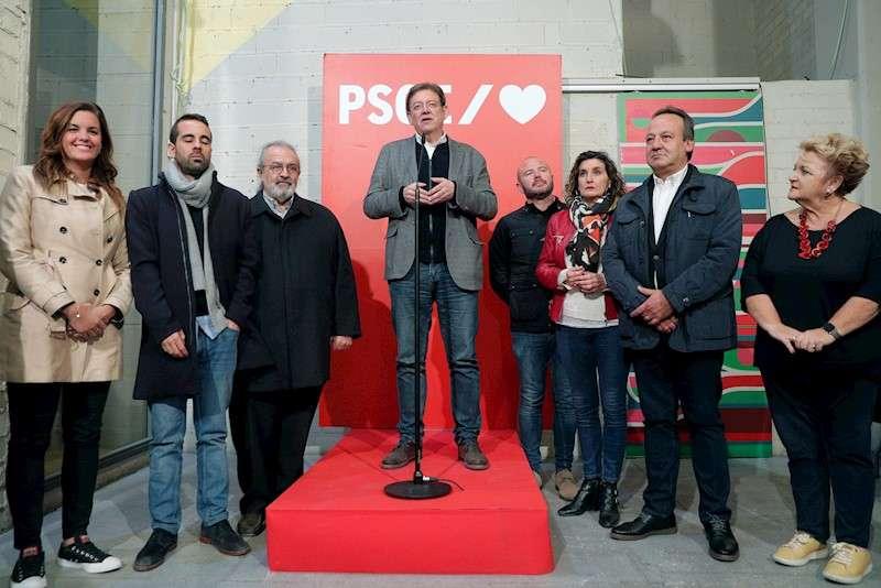 El president de la Generalitat, Ximo Puig, valoraba, anoche, los resultados de la jornada electoral 10N. EFE/Kai Försterling