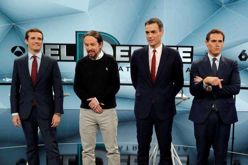 Los candidatos a presidir el Gobierno de España tras las elecciones generales. EFE/Archivo