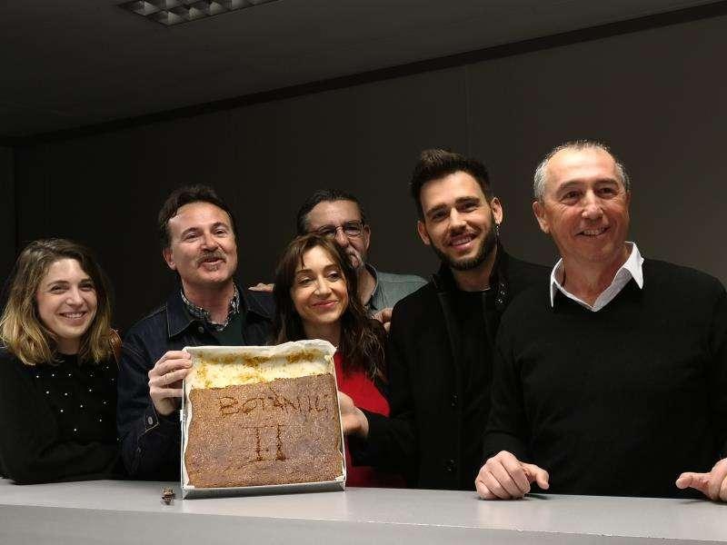 Representantes de Compromís, con Joan Baldoví a la cabeza. EFE