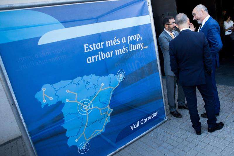 Acto en favor del Corredor Mediterráneo. EFE/Archivo