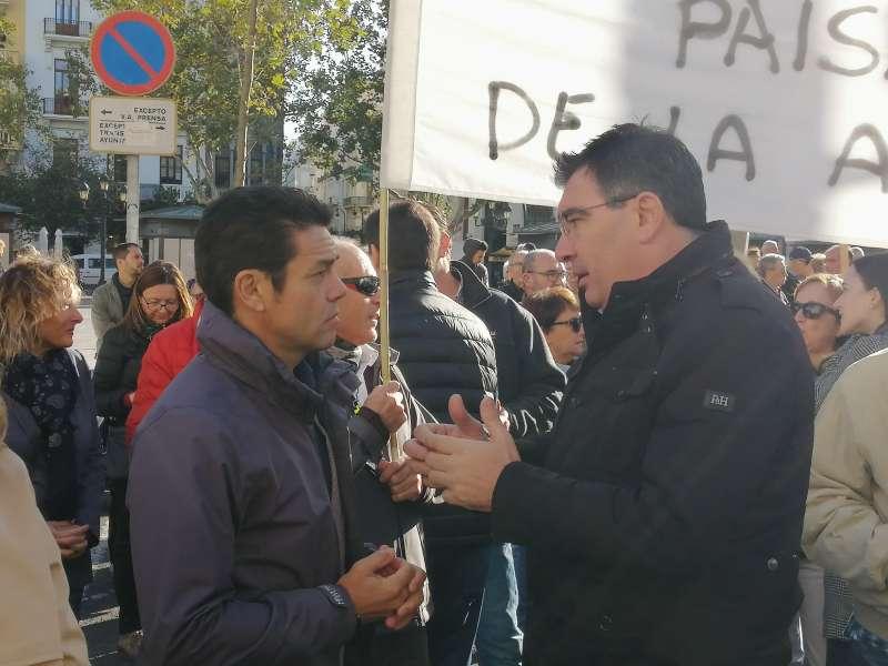 Carlos Mundina (PP) y Narciso Estallés (Cs). EPDA
