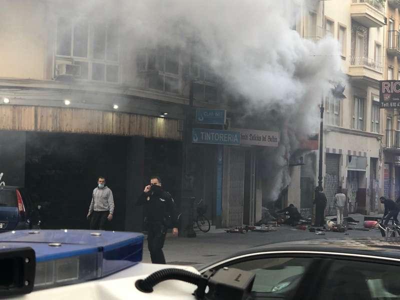 Momento del incendio. Foto: José Manuel Aroyo