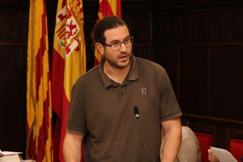 El portavoz de Esquerra Unida en el Ayuntamiento de Sagunt, Guillermo Sampedro. EPDA