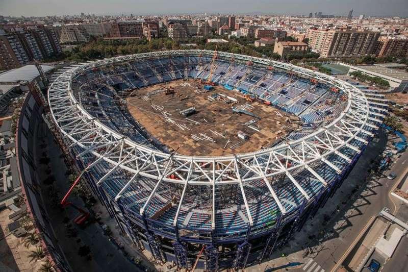 Vista general de la reforma del Estadio Ciutat de València del Levante UD. EFE