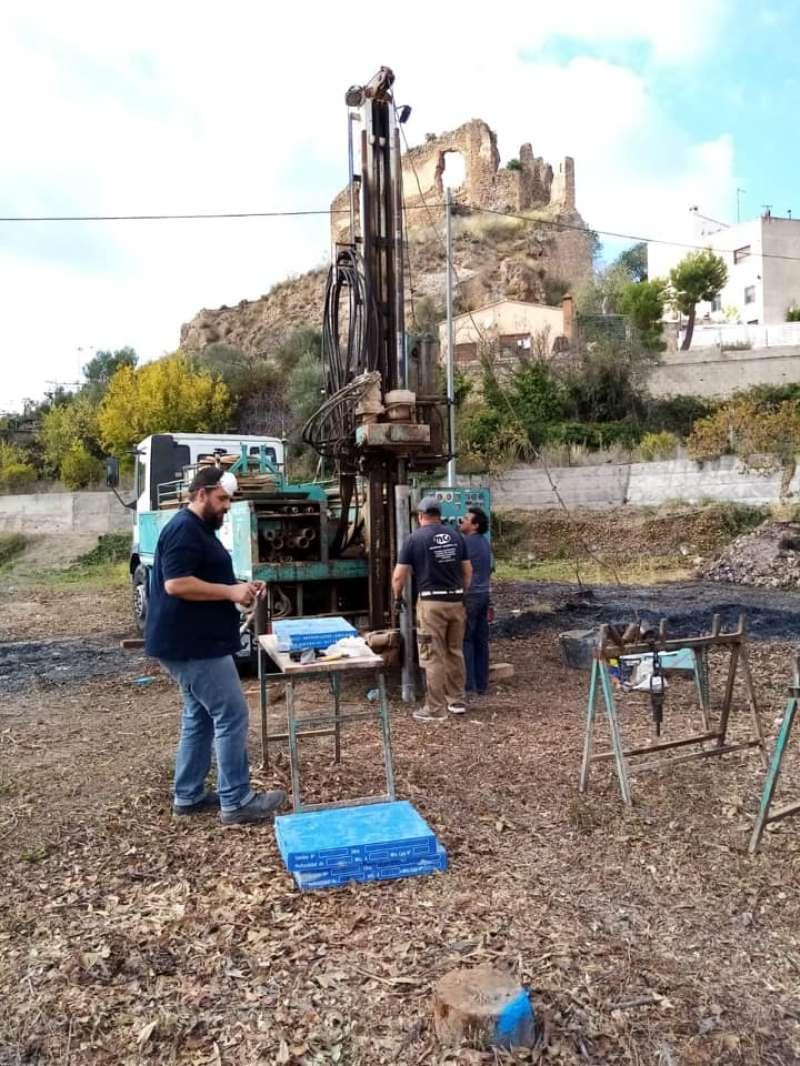 Trabajos geotécnicos para la construcción del aulario de Castellnovo
