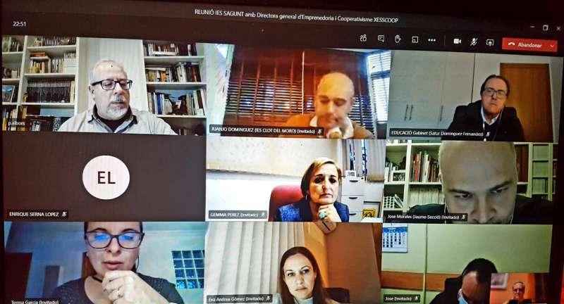 Reunión telemática del Departamento de Educación del Ayuntamiento de Sagunto.