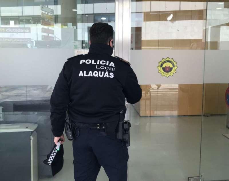 Imagen de un miembro de la Policía.