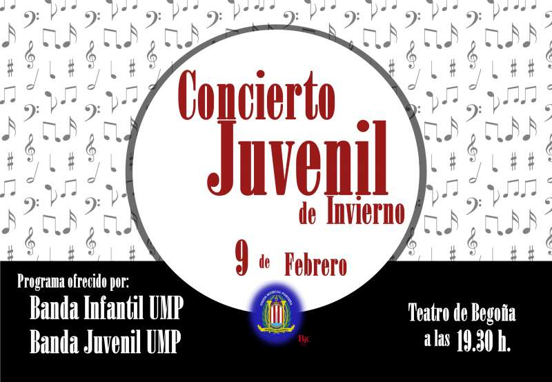 Cartel del Concierto Juvenil de la UMP. EPDA