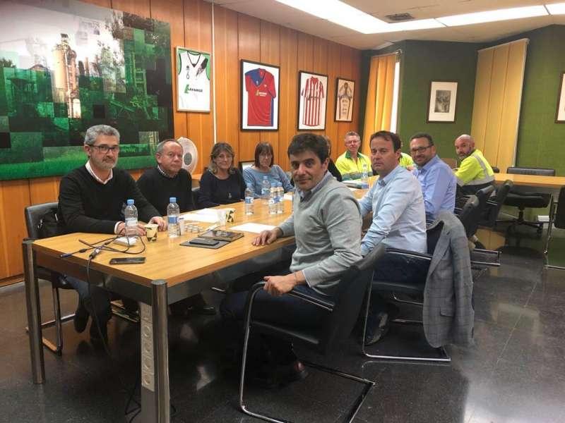 Reunión entre la Fundación CEMA y representantes de sindicatos y de la cementera de Sagunt. EPDA