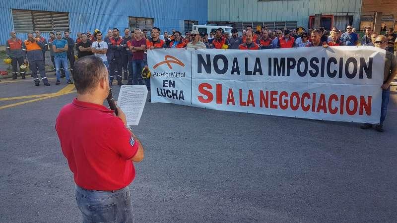 Concentración en ArcelorMittal Sagunt. EPDA