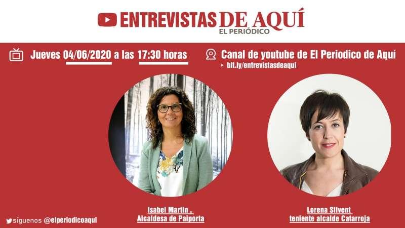 Isabel Martín y Lorena Silvent, jueves 4 de junio.